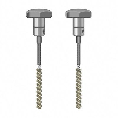 TS 020/110 borstel-elektrodenpaar, geïsoleerd