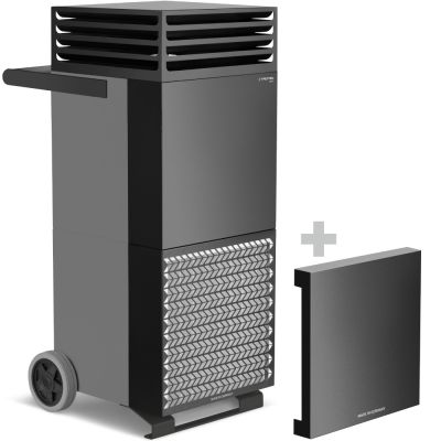 Luchtreiniger TAC V+ in basaltgrijs/zwart + geluiddempende kap