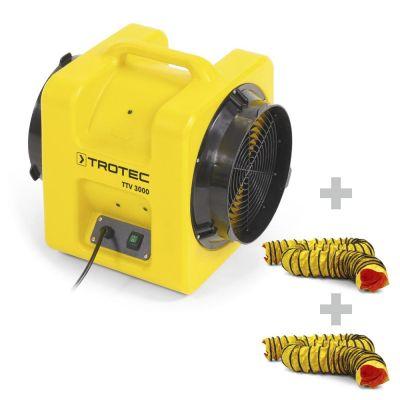 Axiaalventilator TTV 3000 + 2 x SP-T slang 305 mm, 7,6 m