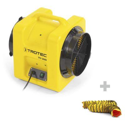 Axiaalventilator TTV 3000 + SP-T slang 305 mm, 7,6 m