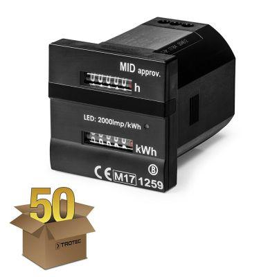 Dubbele teller - Voor bedrijfsuren en kilowattuur MID-conform in een pakket van 50