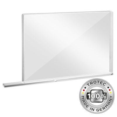 Schooltafel-scherm plexiglas met aerosolrand MEDIUM 1007 x 69 x 688