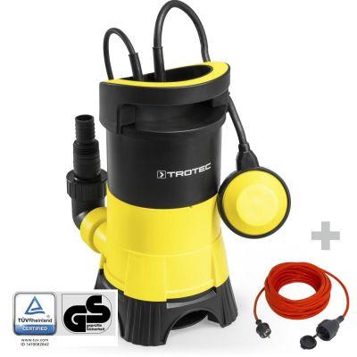 Vuilwater-dompelpomp TWP 4025 E + Kwaliteits verlengsnoer 15 m / 230 V / 1,5 mm²