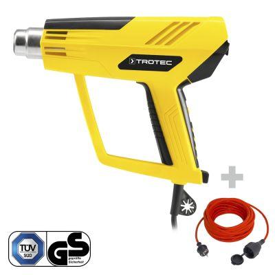 Heteluchtpistool HyStream 2100 + Kwaliteits verlengsnoer 15 m / 230 V / 1,5 mm²