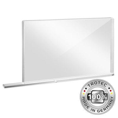 Schooltafel-scherm plexiglas met aerosolrand SMALL 800 x 69 x 500