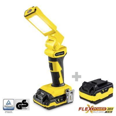 Accu werklamp PWLS 10-20V + Extra multi-accu Flexpower 20V 4,0 Ah