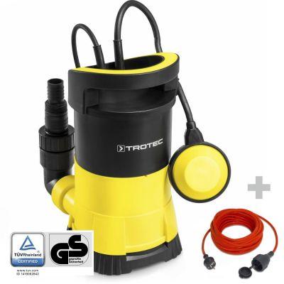 Schoonwater-dompelpomp TWP 4005 E + Kwaliteits verlengsnoer 15 m / 230V / 1,5 mm²