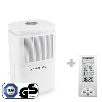 Luchtontvochtiger TTK 30 E + Thermohygrometer weerstation BZ06