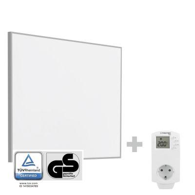 Infrarood- verwarmingsplaat/ Infraroodverwarming TIH 300 S + stopcontact-thermostaat BN30