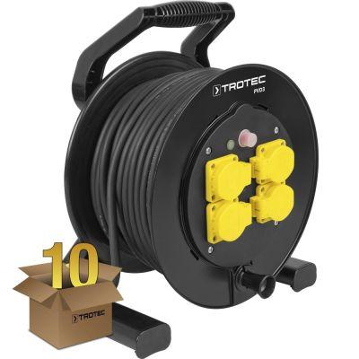 Kabelhaspel PVD3 / 40 m kabel zwart in een pakket van 10 stuks