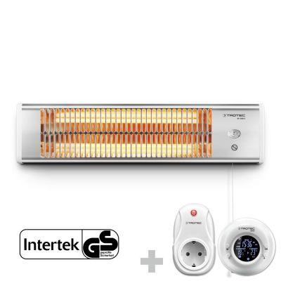 Infrarood warmtestraler IR 1200 S + Draadloze klok-thermostaat BN35