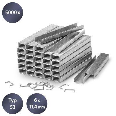 Tackernietjes-set type 53, lengte 6 mm (5000 stuks)