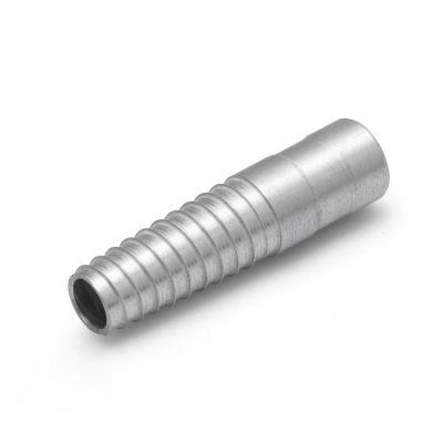 Aluminium schroefstuk voor een 25 mm. slang