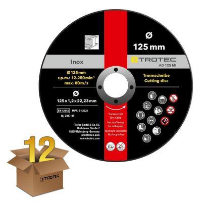 INOX metaal doorslijpschijf AD 125 MI in een voordeelpakket van 12 stuks