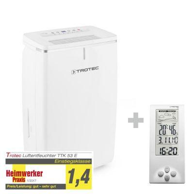 Luchtontvochtiger TTK 53 E + Thermohygrometer weerstation BZ06