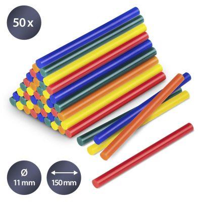 Lijmsticks-set gekleurd, 50 stuks (Ø 11 mm)