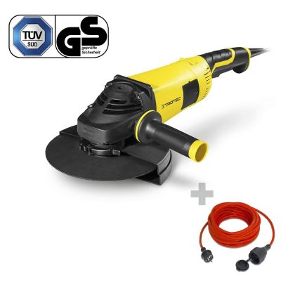 Haakse slijper PAGS 10-230 + Kwaliteits verlengsnoer 15 m / 230 V / 1,5 mm²