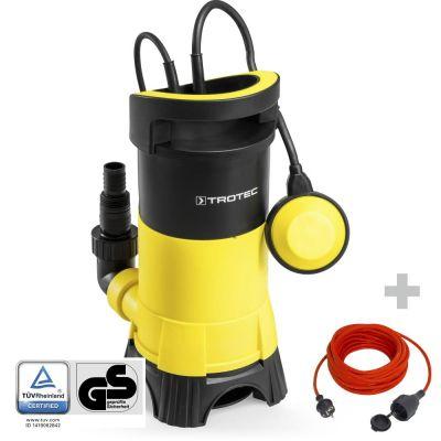 Vuilwater-dompelpomp TWP 7025 E + Kwaliteits verlengsnoer 15 m/230V /1,5 mm²